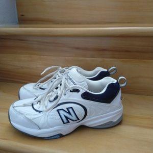 New Balance white blue shoes size 6